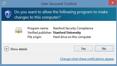 User Account Control dialog box
