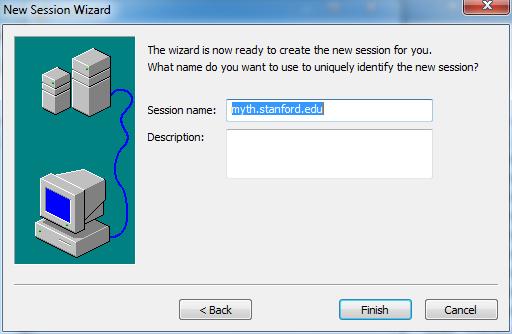 enter session name and description