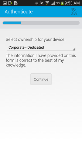 select the ownership of the device