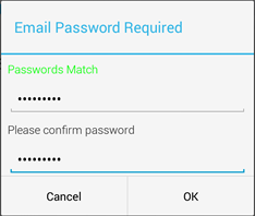 enter your email password