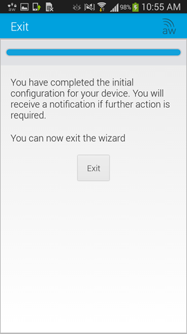 exit the setup wizard