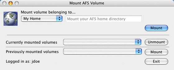 mount home directory