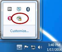 Cisco AnyConnect icon in notification area