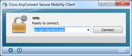 enter link for the Stanford Public VPN