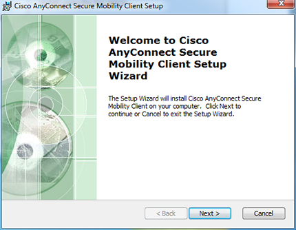setup wizard Welcome window