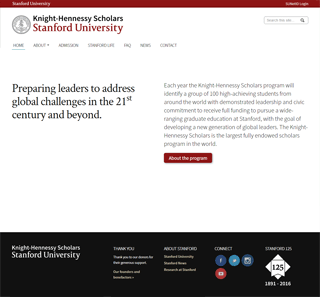 Knight-Hennessy Scholars website screenshot