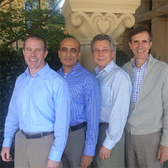 OCIO Leadership: (left to right) Michael Duff, Ganesh Karkala, Bill Clebsch, and Randy Livingston