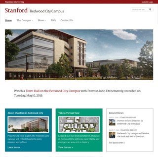 Redwood City Campus website screenshot