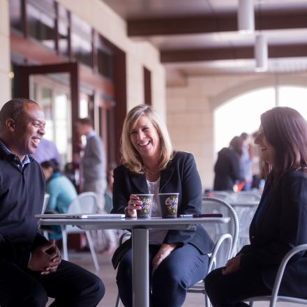 Colleagues at a cafe