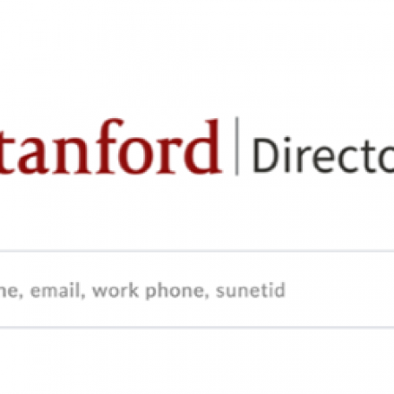 Stanford Directory logo and search box