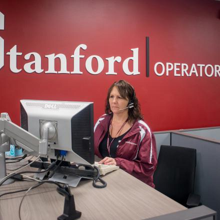 Image of Operator Services Center team member at work