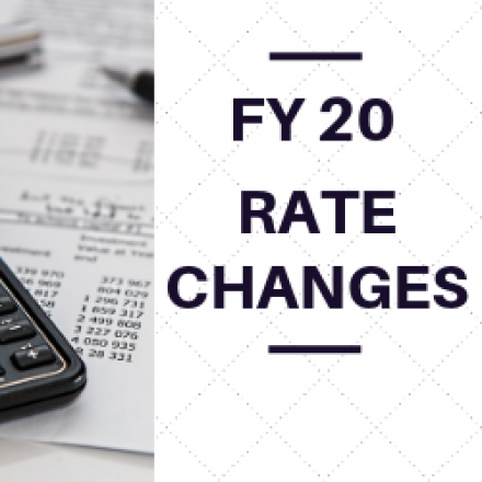 FY 20 Rate Changes