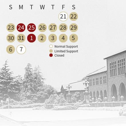 Winter closure calendar