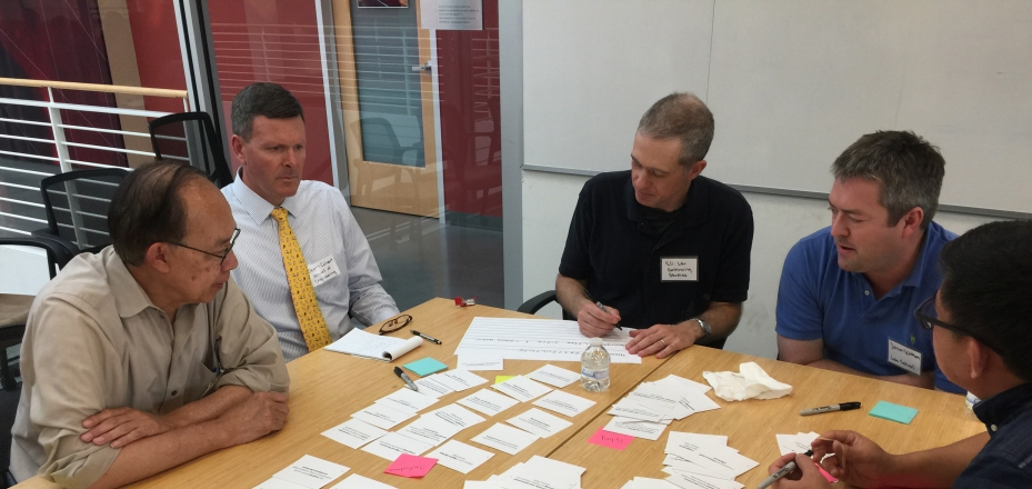 Workshop participants discuss IT Themes