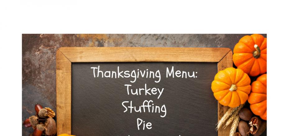 Oracle Upgrade Thanksgiving Menu