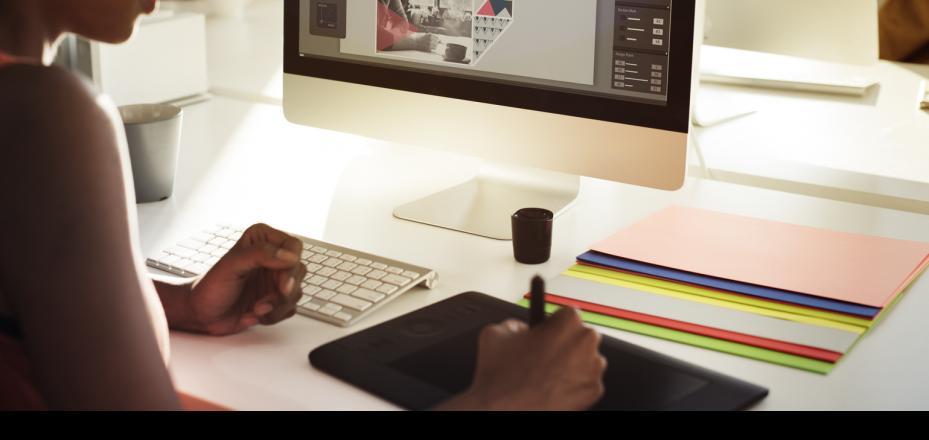 Women designing on her computer