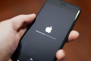 Apple screen when updating